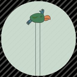 art, artwork, bird, decoration, interior, painting, parrot icon