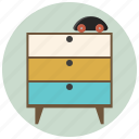 children room, cupboard, drawers, figure, furniture, interior, room icon
