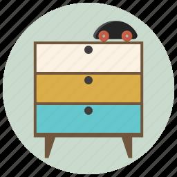children room, cupboard, drawers, figure, furniture, interior, room icon