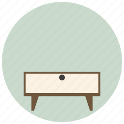 cupboard, desk, furniture, interior, room, table, tv table icon