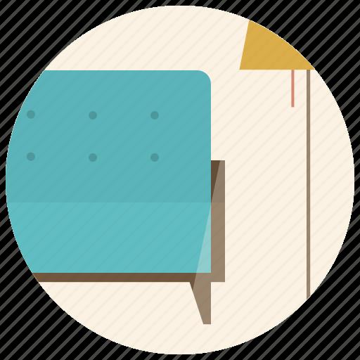 couch, furniture, interior, interior design, lamp, room, sofa icon