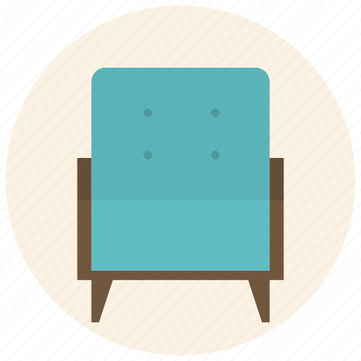 armchair, chair, furniture, interior, living, room, seat icon