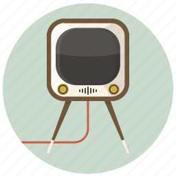 electronic, furniture, home, interior, retro, television, tv icon