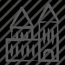 arcade, building front, condominium, school, university icon