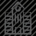 arcade, building front, condominium, school, university building icon