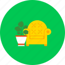 armchair, chair, furniture, home, interior, office, seat icon