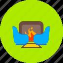 fireplace, burn, chimney, fire, furniture, hearth, warm