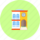 architecture, building, construction, home, house, property, with 2 levels icon
