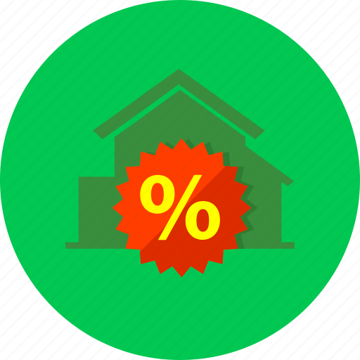 credit, estate, gain zero percent, home, house, interest rate, real icon