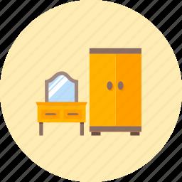 fitting, furnishings, furniture, interior, mirror, wardrobe, wooden icon