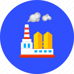ecology, factory, industry, machine, plant, pollution, work icon