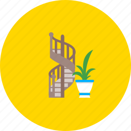 arched ladders, flower, furniture, interior design, ladders, staircases, stairs icon