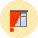 broad-glass, glass, interior design, jack, window, window curtain, window glass icon