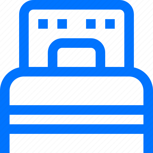 bed, bedroom, furniture, interior, king size, one, sleep icon