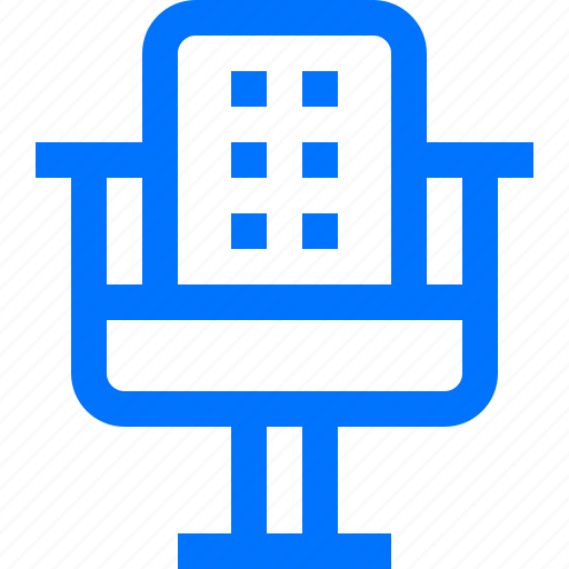 barber, chair, decoration, furniture, home, interior, living room icon