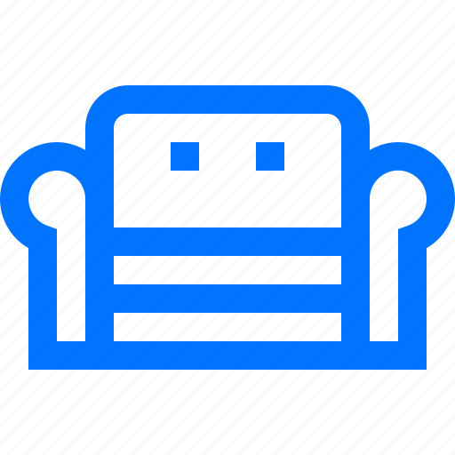couch, decoration, furniture, home, interior, living room, sofa icon
