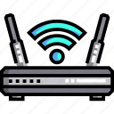 connection, electronics, modem, router, wifirouter, wifisignal, wirelessinternet icon