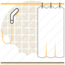 bath, design, interior, room, shower icon