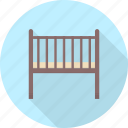 baby, child, cradle, furniture, infant, interior, kid icon