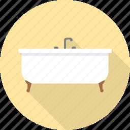 bath, bathroom, bathtub, furniture, interior, shower, tub icon