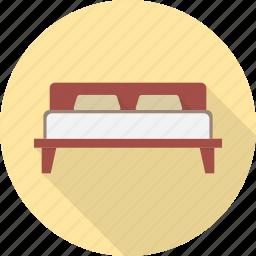 bed, bedroom, furniture, hotel, interior, sleep icon