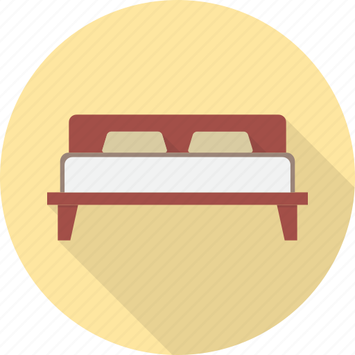 bed, bedroom, furniture, hotel, interior, sleep icon