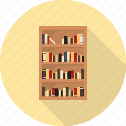 bookcase, cabinet, cupboard, furniture, interior icon