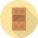 cabinet, cupboard, drawer, furniture, interior, storage icon