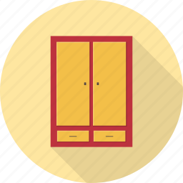 cabinet, cupboard, drawer, furniture, interior, storage icon