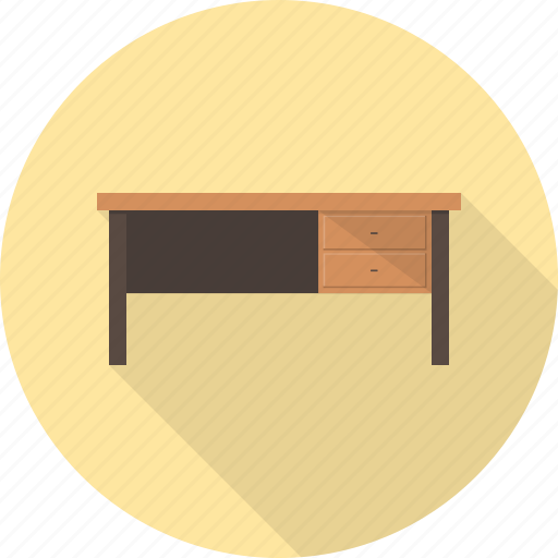 desk, furniture, interior, lamp, office, table icon