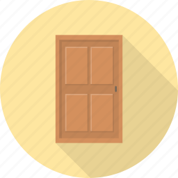 close, door, exit, furniture, interior, open, out icon