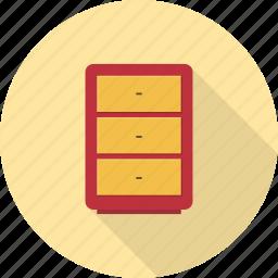 cabinet, drawer, drawers, furniture, interior, storage icon