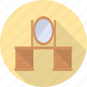 dress, dressing, furniture, interior, mirror, table icon