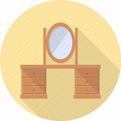 dress, dressing, furniture, interior, mirror, table icon