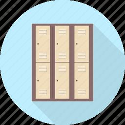 cabinet, drawer, furniture, interior, locker icon