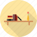 book, books, cabinet, furniture, interior, library, shelf icon