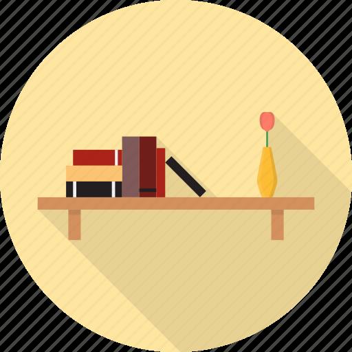 book, books, cabinet, furniture, interior, library, shelf icon