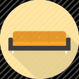 chair, couch, furniture, interior, sofa icon