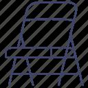 chair, folding, furniture, interior icon