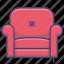 armchair, chair, single, sofa icon