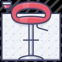 bar, chair, interior, stool icon