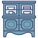 cabinet, storage, interior, cupboard icon