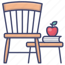 chair, funiture, stool, wood