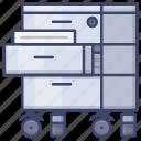 cabinet, drawer, office, storage