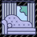 chaise, interior, lounge, sofa icon