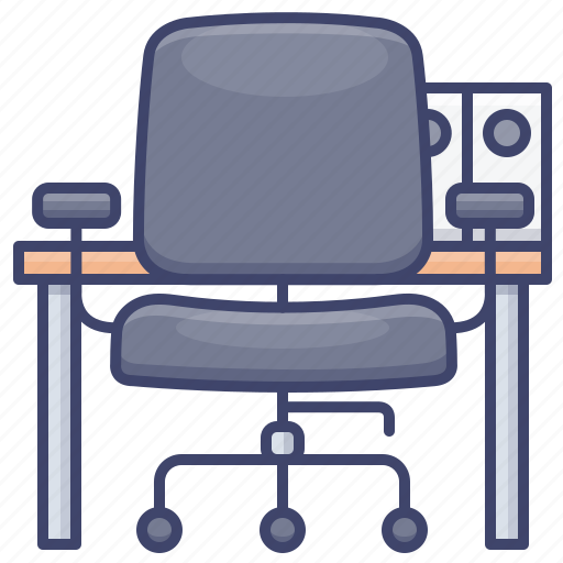 Chair, desk, furniture, office icon - Download on Iconfinder