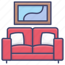 couch, furniture, modern, sofa