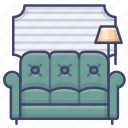 couch, furniture, luxury, sofa icon