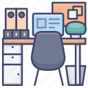 desk, home, office, workplace icon