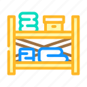 storaging, shelves, home, interior, style, hanging icon